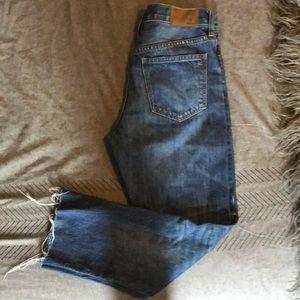 Madewell Straight Leg Crop Jeans!